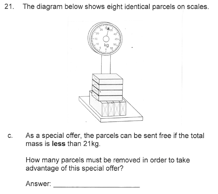 Solihull School - 10 Plus Maths Sample Paper 2 Question 24