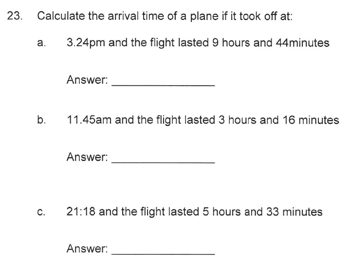 Solihull School - 10 Plus Maths Sample Paper 2 Question 26