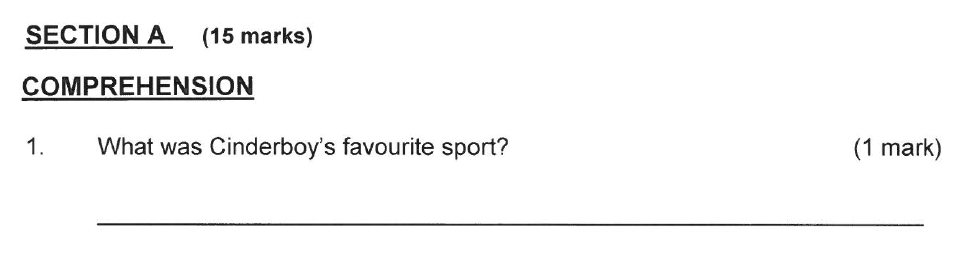 Solihull School - 8 Plus English Sample Paper 2 Question 01