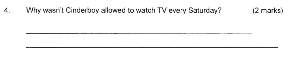 Solihull School - 8 Plus English Sample Paper 2 Question 04