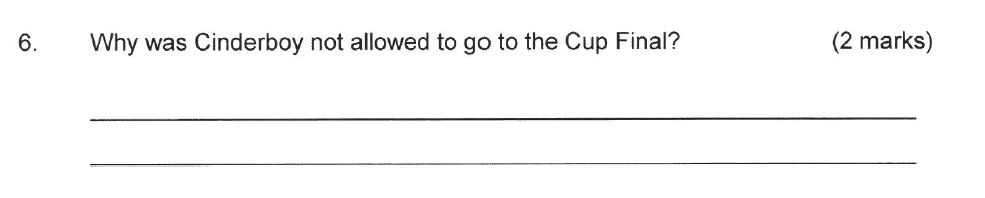 Solihull School - 8 Plus English Sample Paper 2 Question 06