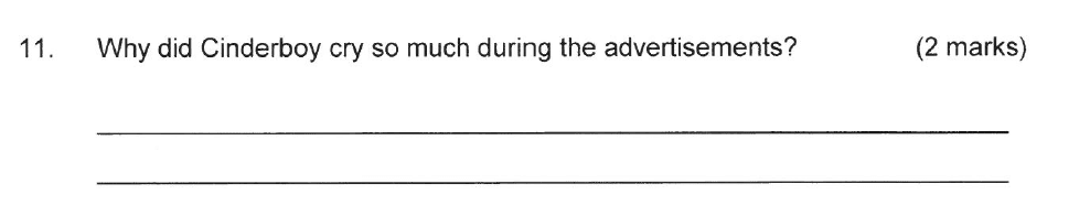 Solihull School - 8 Plus English Sample Paper 2 Question 11