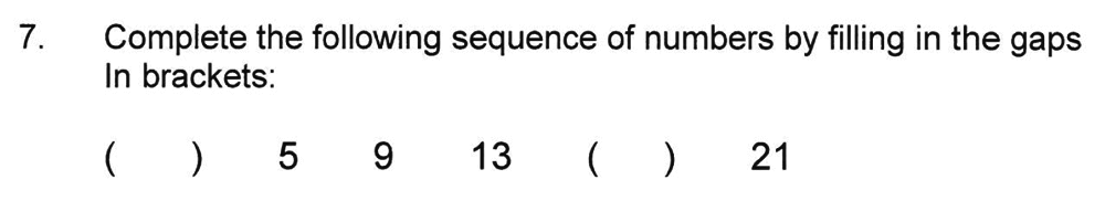 Solihull School - 8 Plus Maths Practice Paper 1 Question 07