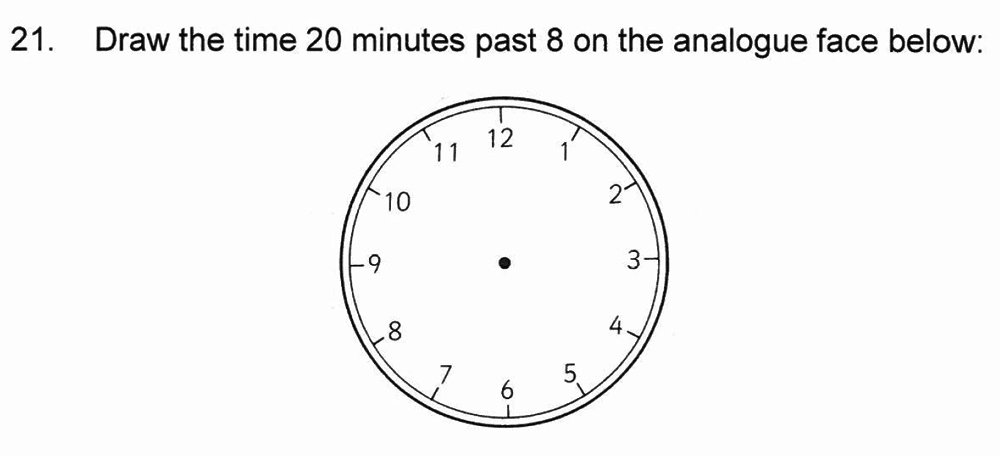 Solihull School - 8 Plus Maths Practice Paper 1 Question 21