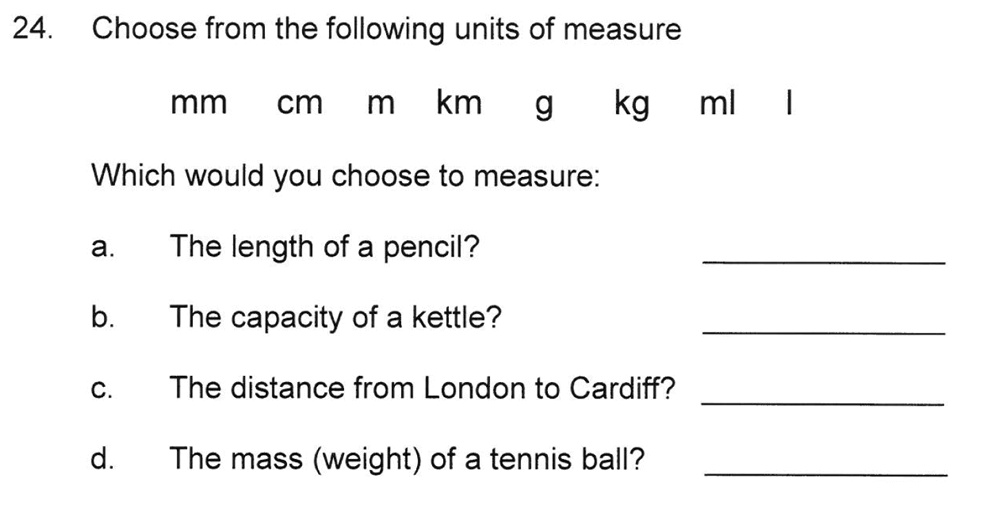 Solihull School - 8 Plus Maths Practice Paper 1 Question 24
