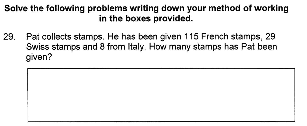 Solihull School - 8 Plus Maths Practice Paper 1 Question 29
