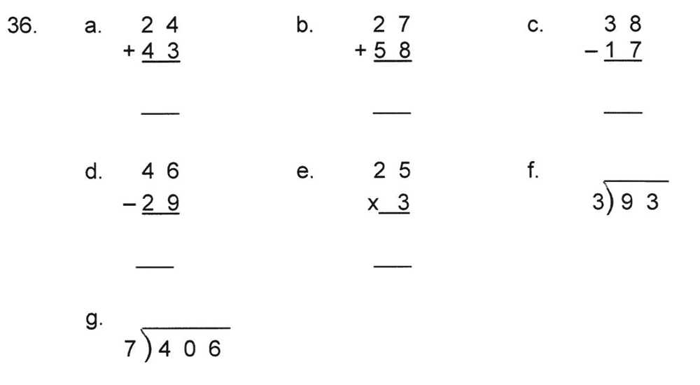 Solihull School - 8 Plus Maths Practice Paper 1 Question 36