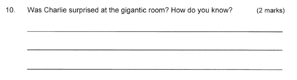 Solihull School - 9 Plus English Sample Paper 2 Question 10