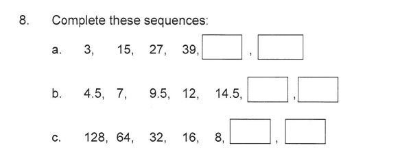 Solihull School - 9 Plus Maths Sample Paper 2 Question 08