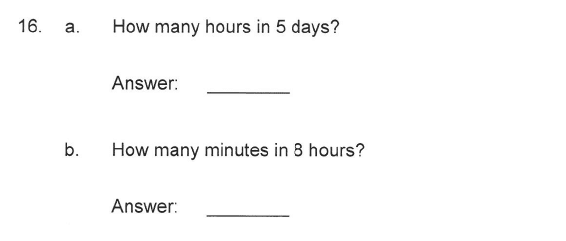 Solihull School - 9 Plus Maths Sample Paper 2 Question 16