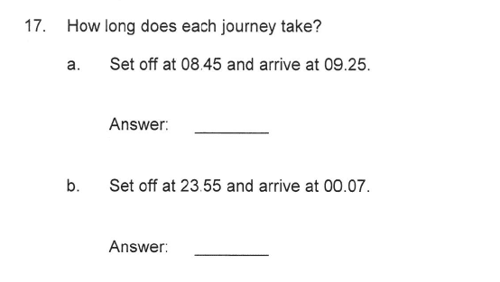 Solihull School - 9 Plus Maths Sample Paper 2 Question 18