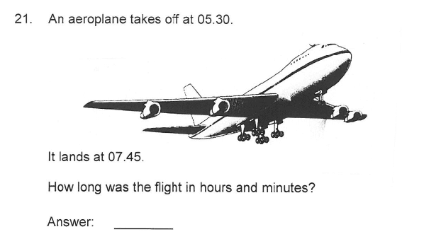 Solihull School - 9 Plus Maths Sample Paper 2 Question 22