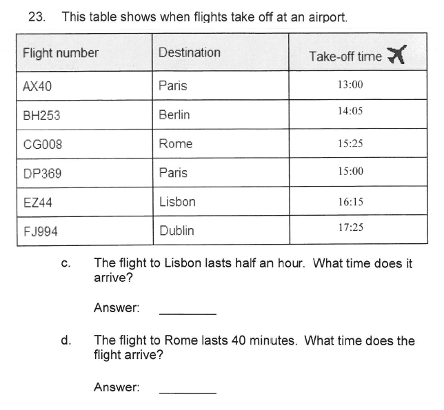 Solihull School - 9 Plus Maths Sample Paper 2 Question 25