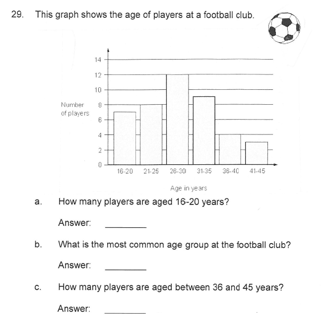 Solihull School - 9 Plus Maths Sample Paper 2 Question 33