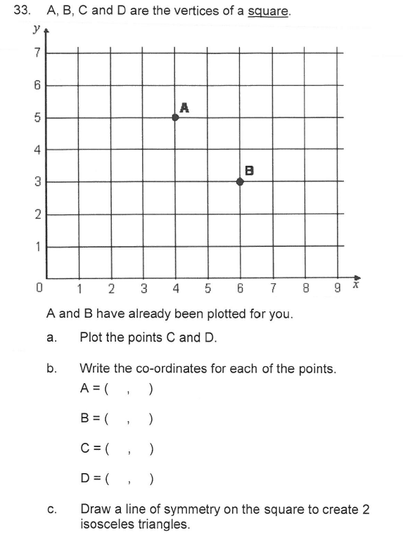 Solihull School - 9 Plus Maths Sample Paper 2 Question 39