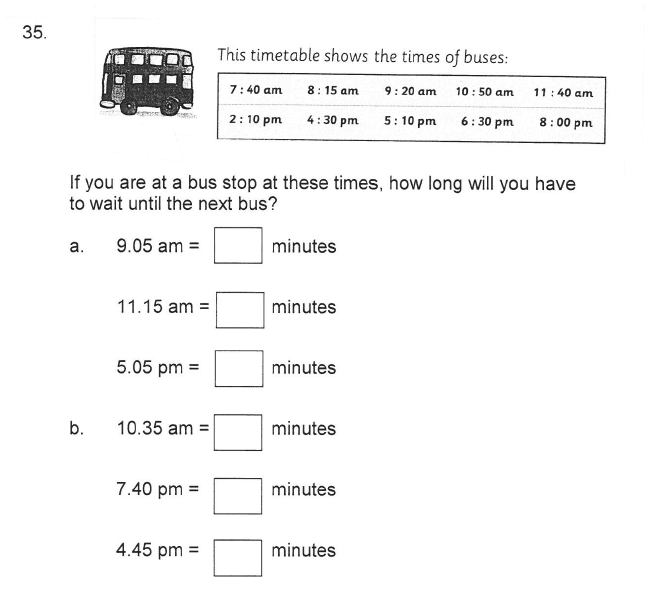 Solihull School - 9 Plus Maths Sample Paper 2 Question 41
