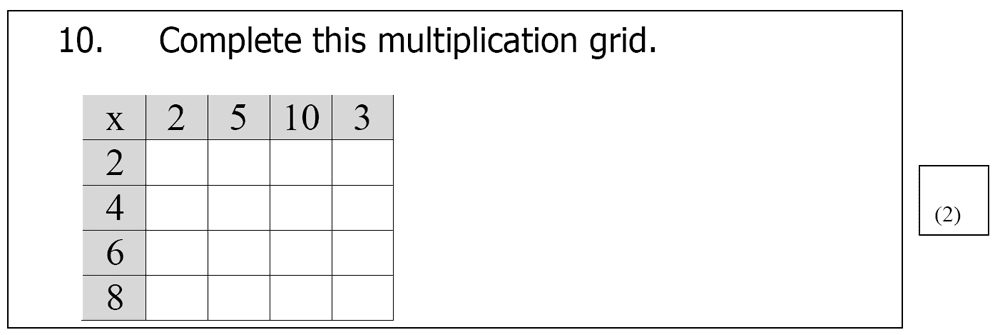 St Mary's School, Cambridge - Year 3 Maths Sample Test Paper Question 10