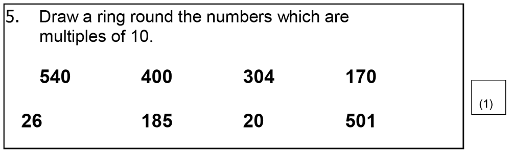 St Mary's School, Cambridge - Year 3 Maths Sample Test Paper Question 20