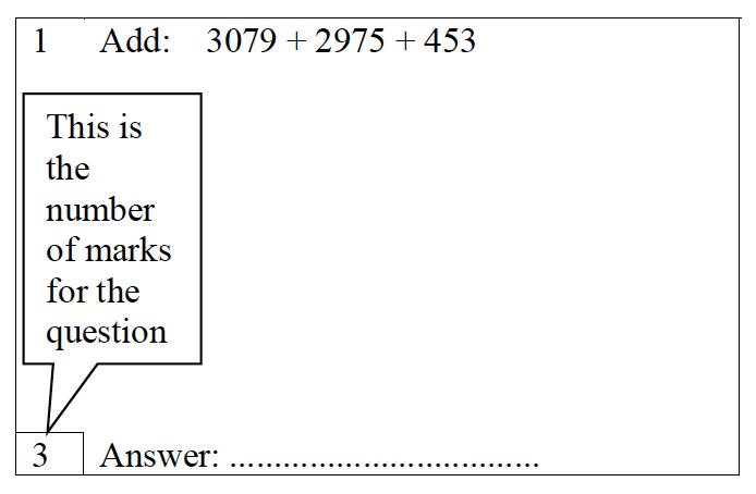 Trinity School - 10 Plus Maths Practice Paper Question 01