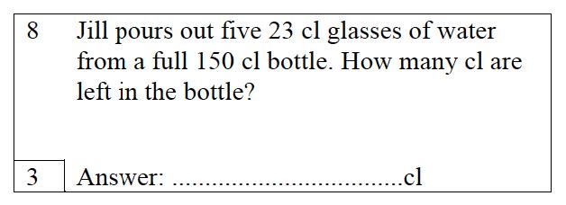 Trinity School - 10 Plus Maths Practice Paper Question 08