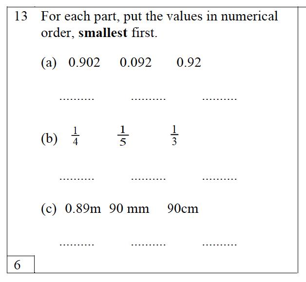 Trinity School - 10 Plus Maths Practice Paper Question 13
