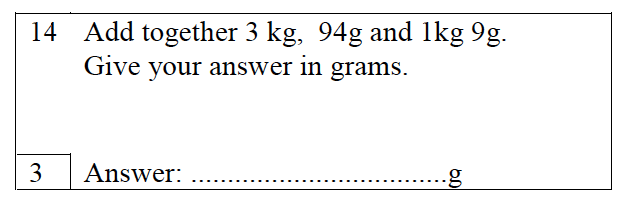 Trinity School - 10 Plus Maths Practice Paper Question 14