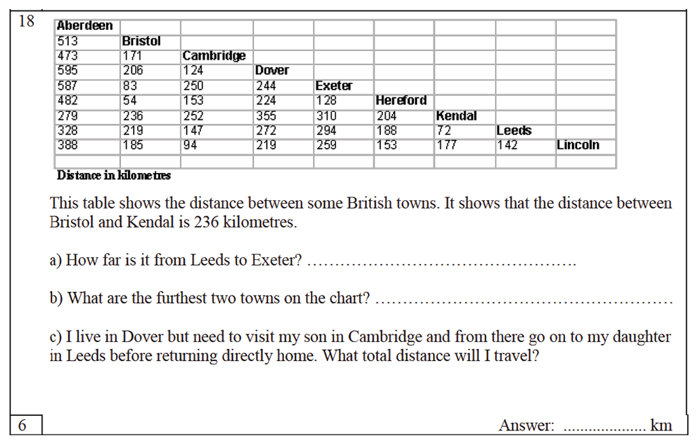 Trinity School - 10 Plus Maths Practice Paper Question 18