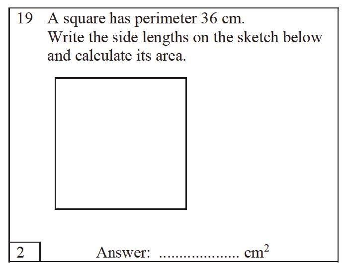 Trinity School - 10 Plus Maths Practice Paper Question 19