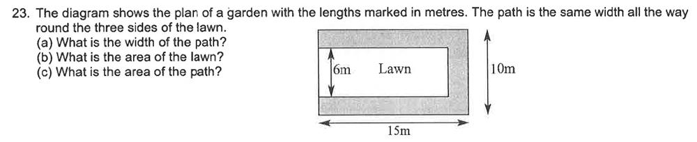 Trinity School - 10 Plus Maths Sample Questions Question 24