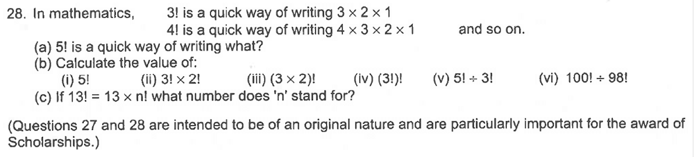 Trinity School - 10 Plus Maths Sample Questions Question 29