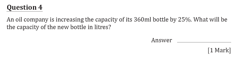 11 Plus Maths Independent Style Mock Test 2020 Question 05