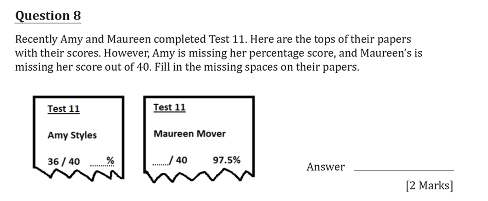 11 Plus Maths Independent Style Mock Test 2020 Question 09