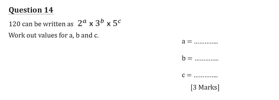 11 Plus Maths Independent Style Mock Test 2020 Question 15