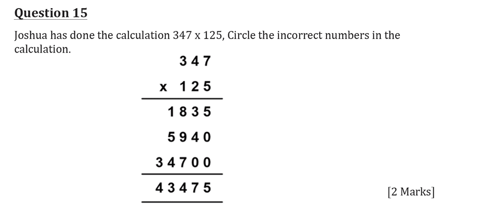 11 Plus Maths Independent Style Mock Test 2020 Question 16