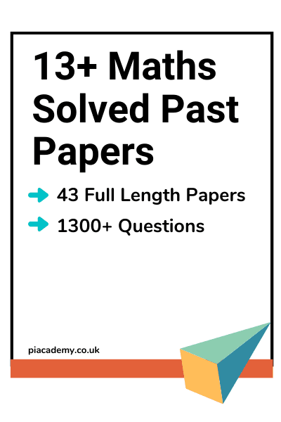 13 Plus Maths Past Papers With Answers