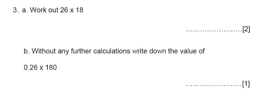 Aldenham School - 13 Plus Maths Sample Paper 2015 Question 03