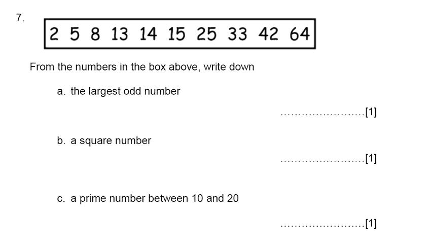 Aldenham School - 13 Plus Maths Sample Paper 2015 Question 07