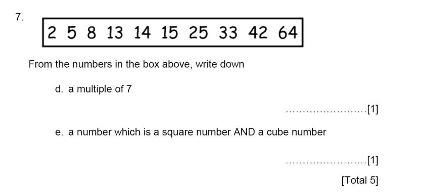 Aldenham School - 13 Plus Maths Sample Paper 2015 Question 08