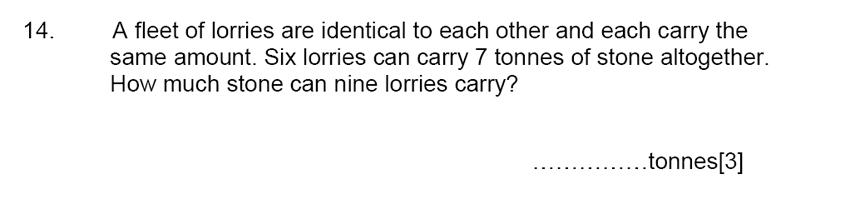 Aldenham School - 13 Plus Maths Sample Paper 2015 Question 15
