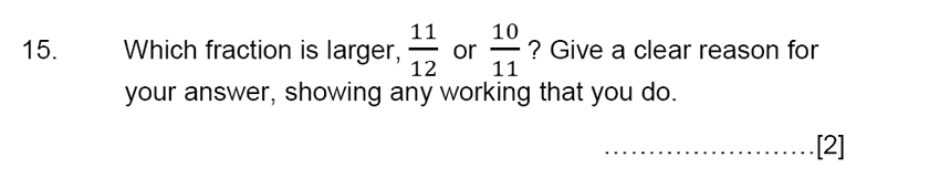 Aldenham School - 13 Plus Maths Sample Paper 2015 Question 16