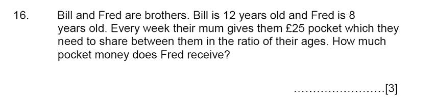 Aldenham School - 13 Plus Maths Sample Paper 2015 Question 17