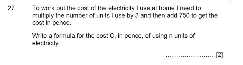 Aldenham School - 13 Plus Maths Sample Paper 2015 Question 28