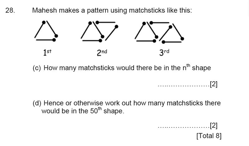 Aldenham School - 13 Plus Maths Sample Paper 2015 Question 30