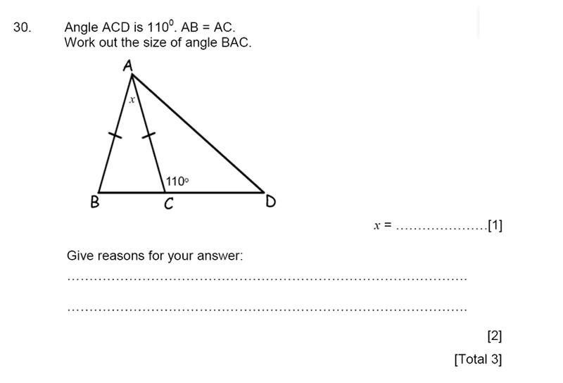 Aldenham School - 13 Plus Maths Sample Paper 2015 Question 32