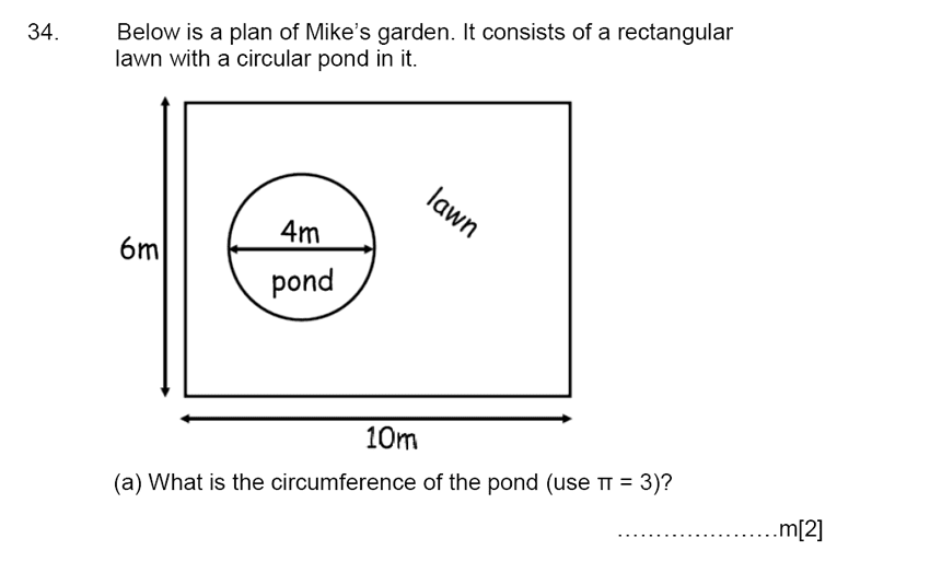 Aldenham School - 13 Plus Maths Sample Paper 2015 Question 37