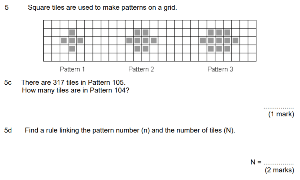 Aldenham School - 13 Plus Maths Sample Paper 2017 Question 06
