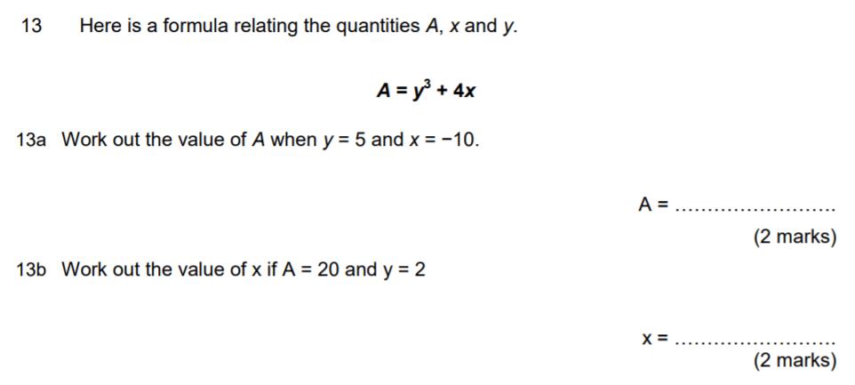 Aldenham School - 13 Plus Maths Sample Paper 2017 Question 18