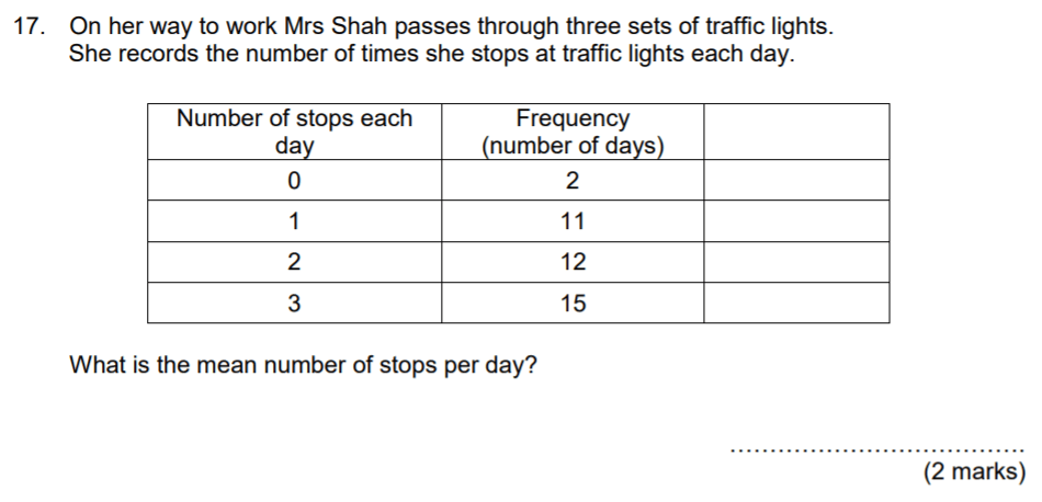 Aldenham School - 13 Plus Maths Sample Paper 2017 Question 24