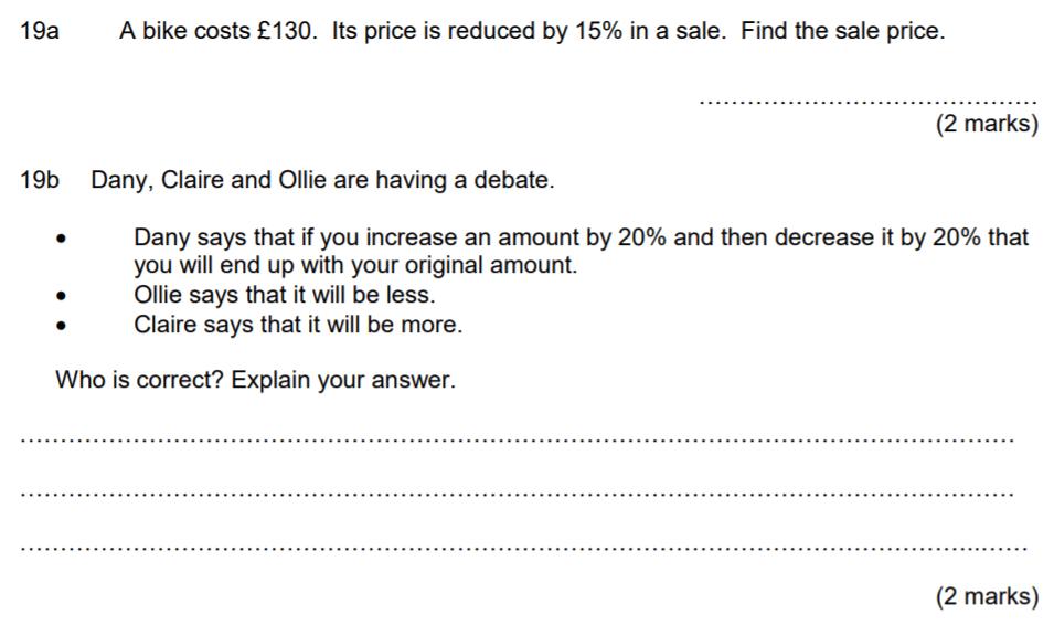 Aldenham School - 13 Plus Maths Sample Paper 2017 Question 26