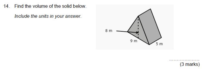 Aldenham School - 13 Plus Maths Sample Paper 2019 Question 15
